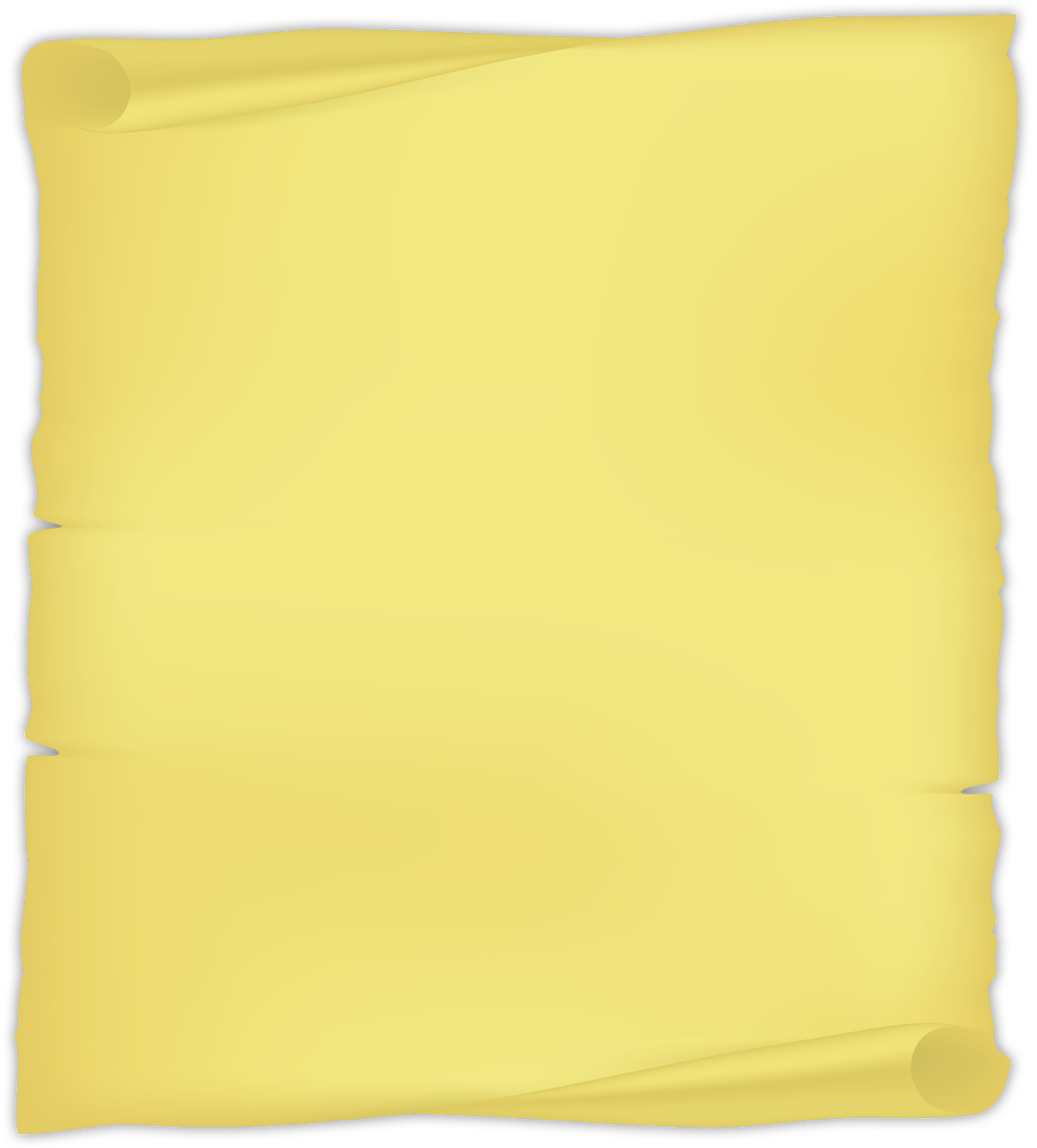 yellow paper scroll